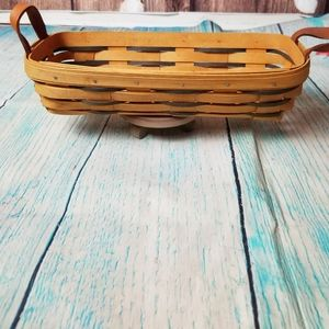 Longaberger 1999 long basket with leather handles
